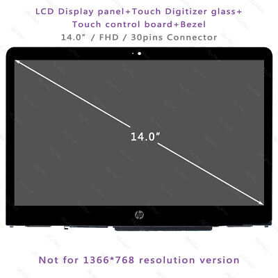 Bezel for HP Pavilion x360 14M-cd0003DX FHD LCD Screen Touch Display Digitizer