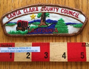BSA-BOY-SCOUT-PATCH-Vintage-Santa-Clara-Council-California-5DC1