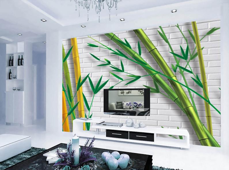 3D Bambuswand 975 Tapete Wandgemälde Tapete Tapeten Bild Familie DE Summer