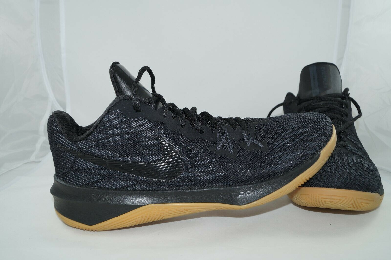 Nike Zoom Evidence II EU 45 US 11 UK 10 Sportschuhe 908976-012 Schwarz
