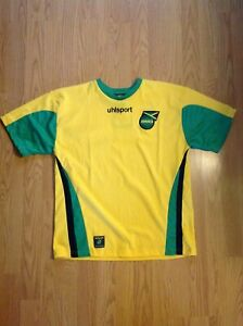 the latest be3b5 8dba0 Details about NEW 2005-2007 JAMAICA National Team Football Home Jersey New  With Tags UHLSPORT