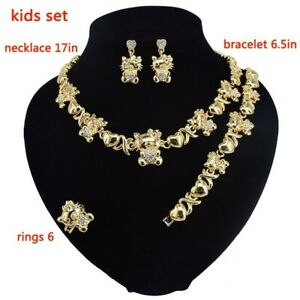45-HUGS-amp-KISSES-children-xo-set-18k-Layered-real-Gold-Filled-kids-set