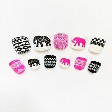 2016 For Kids Girls Cute French False  Nails Art Elephant & Totem Full Stickers