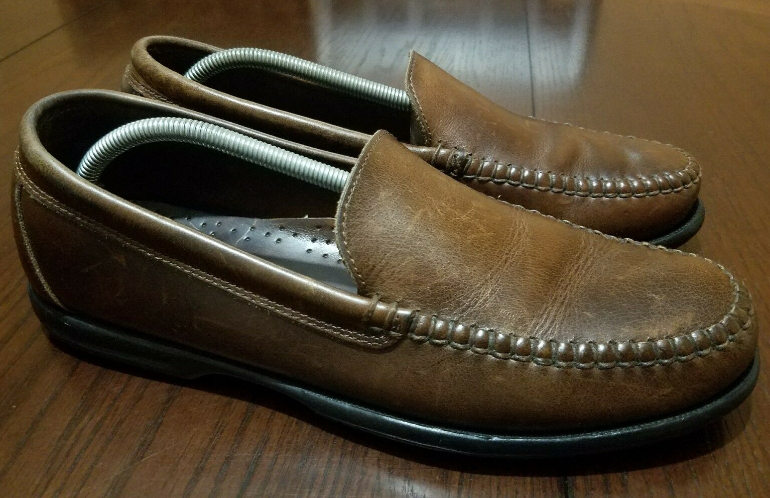 Sperry Men braun braun braun Distress Leather Fashion Casual Driving Loafers Größe 10 M 2935e7