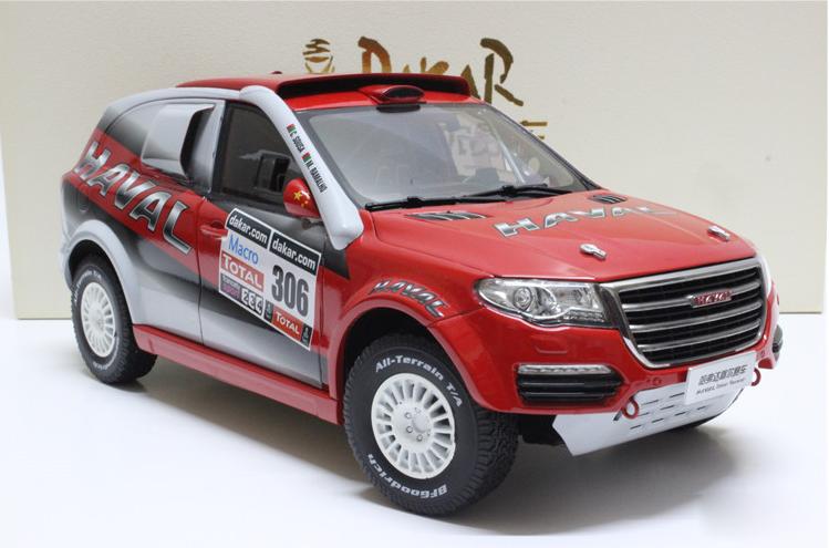 1 18 Great Wall  Haval d'origine constructeur, Haval H8 Dakar Racer Voiture SUV modèle.  grand choix et livraison rapide