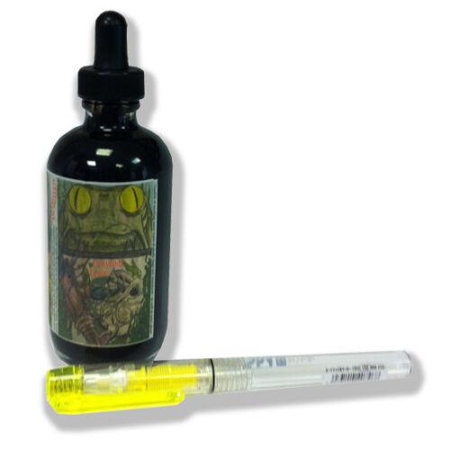 Noodler/'s Ink Black Erase 4.5oz Bottled Ink for Fountain Pens with Free Pen