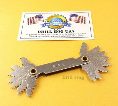Drill Hog Screw Pitch Gauge Tool Gauge Screw Thread Checker SAE Standard