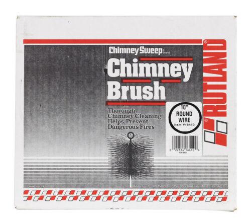 """NEW RUTLAND 10/"""" Round Chimney Brush Black 16410"""