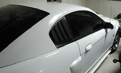 2003-2004 Mustang Mach 1 ABS Rear Quarter Window Louvers, Only fits Mach 1