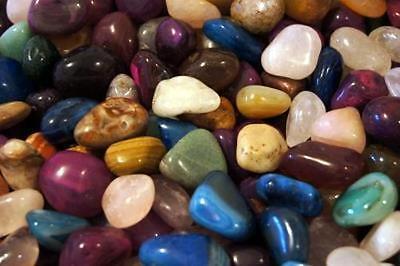 200g Mixed Large 20 - 30mm Healing Crystal Tumble Stones - Chakras