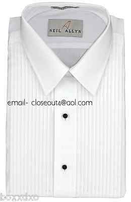New Spread Collar Tuxedo Shirt 17 17 1/2 Neck 34-35 Sleeve FREE Stud/Link Cotton
