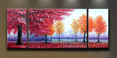 Framed 100%Handmade Modern Abstract Art Oil Painting Wall Decor on canvas-TREE