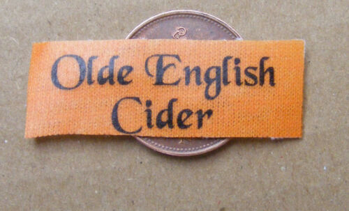 1:12 Scale Single Olde English Cider Tumdee Dolls House Miniature Bar Towel