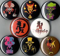 Insane Clown Posse 8 Pins Buttons Badges Icp Hatchetman