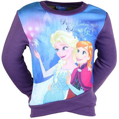 Brillante Maglione / Felpa Bambino Disney Frozen Frozen Viola Perfetto Nella Lavorazione