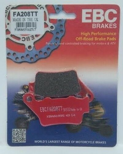 "KTM EXC 300 (2000 to 2003) EBC ""TT"" REAR Disc Brake Pads (FA208TT) (1 Set)"