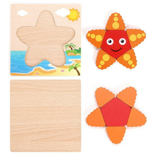 DIY Educational Toys 3D Jigsaw Puzzle Toy Wooden For Toddlers Kid Children S