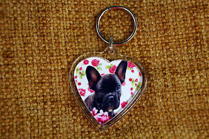 French-Bulldog-Keyring-Dog-Key-Ring-heart-Frenchie-Boy-Girl-Stocking-Filler-Gift