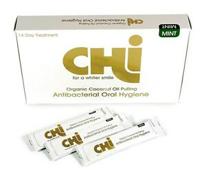 CHI-ORGANIC-COCONUT-OIL-PULLING-Oral-Hygiene-amp-Teeth-Whitening-14-Day-Course