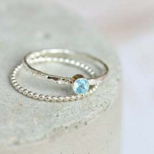 Blue-Topaz-Stone-Ring-Dainty-Ring-Gemstone-Silver-Ring-Silver-stacking-ring