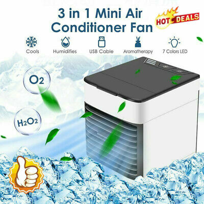 Personal Portable Mini Air Conditioner Cooling Air Fan Humidifier Purifier | eBay