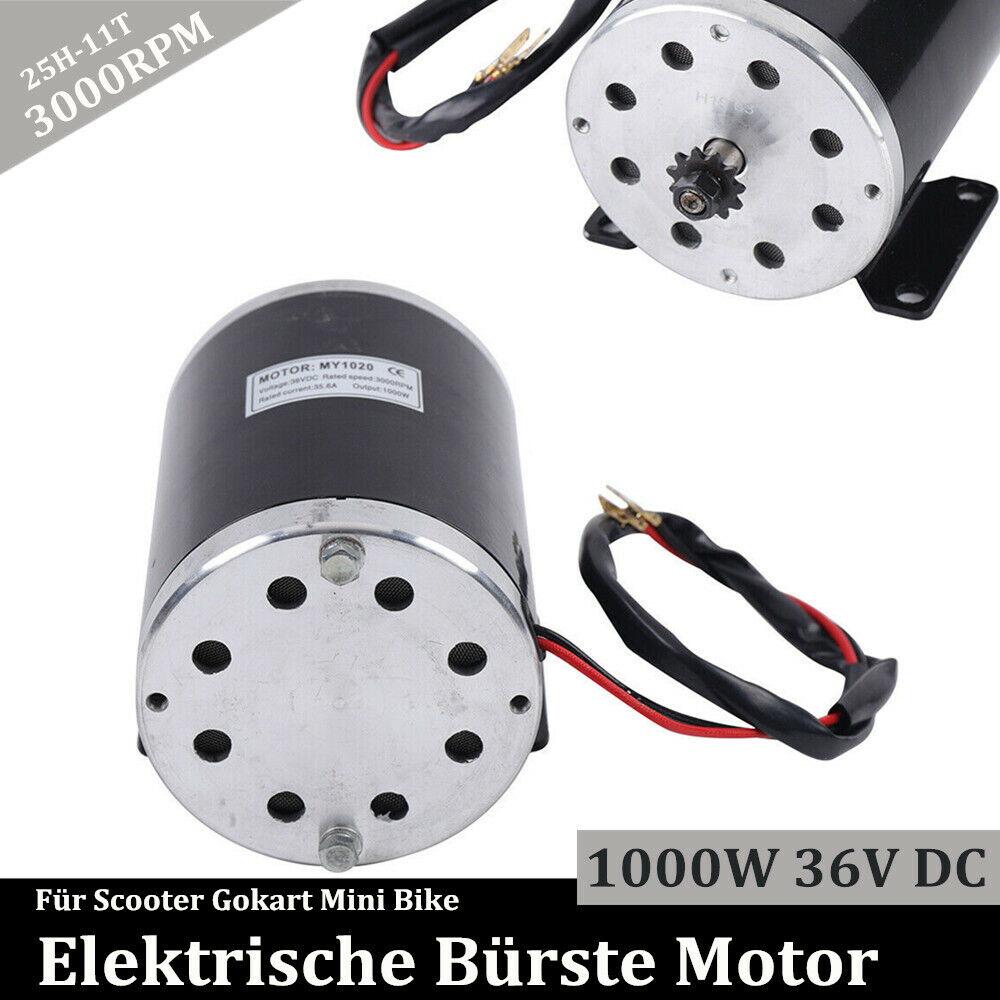 1000W Elektro Motor Bürstenmotor 3000RPM 36V DC Für E BIKE Elektro Scooter SALE