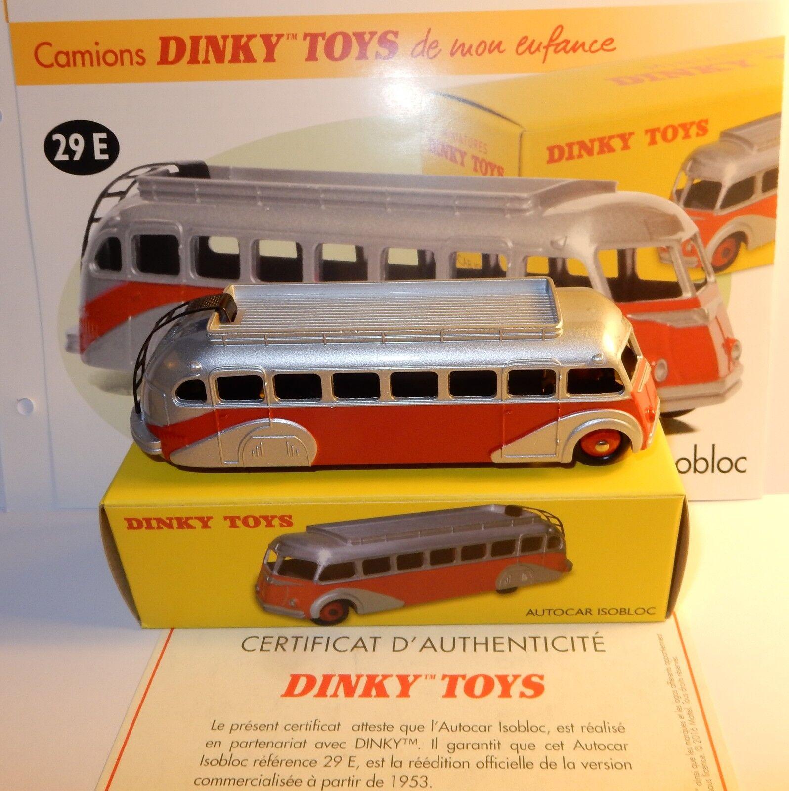 descuento de ventas en línea DINKY TOYS ATLAS AUTOCoche Coche ISOBLOC BIColor ROJO gris PLATA PLATA PLATA 1 72 REF 29E BOX  venta con descuento