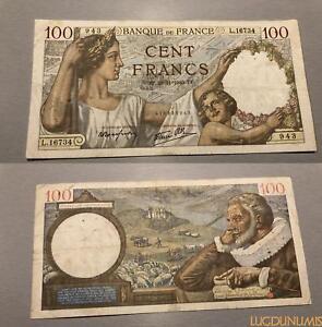 100 Francs Sully Type 1939 - 28/12/1940 L.16734 Ttb Douceur AgréAble