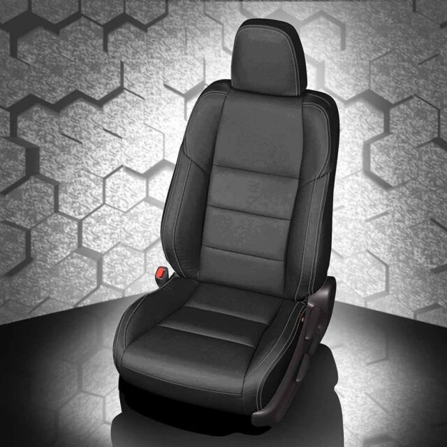 KATZKIN BLACK REPLACEMENT LEATHER INT SEAT COVERS FITS 2013 2018 TOYOTA RAV4 XLE