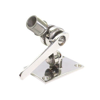 Marine VHF Antenna 316 Stainless Steel Dual Axis Adjustable Base Ratchet Mount