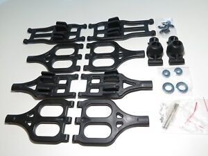 YY-MadMax A-arms for Traxxas T-Maxx E-Maxx Front Rear W/ Hubs and Bearings Black