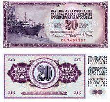 YUGOSLAVIA 20 Dinara Banknote World Paper Money UNC Currency Pick p-88a