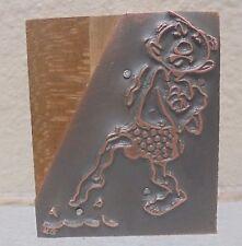 Vintage Man Slipping Metal Amp Wood Letterpress Printing Block Type Nice