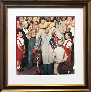 Christmas Homecoming Rockwell.Details About Norman Rockwell Christmas Homecoming New Custom Framed Art Print Xmas