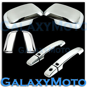 Chrome Mirror+4 Door Handle+Smart Hole Cover for 05-12 Nissan PATHFINDER