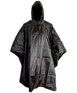 RIP-STOP-WATERPROOF-WINDPROOF-PONCHO-BASHA-black-SAS-military-hooded-coat-jacket