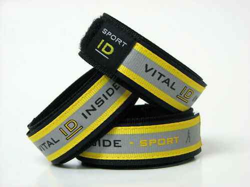 Sports ID-Vital ID Adjustable Bracelet- Yellow or Red - 2 Sizes!