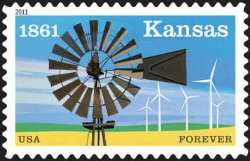 2011 44c Kansas Statehood Scott 4493 Mint F/VF NH