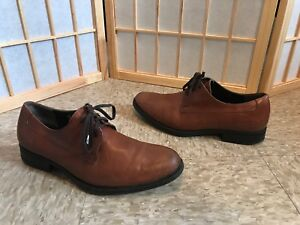 2897b70a7bf HARRYS OF LONDON MADE IN ITALY Brown oxford lace-up dress shoe SZ 41 ...