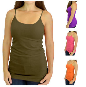 3 Color 3 Pieces Women Camisole Basic Camis Tanks Stretch Cami with Adjustable Straps
