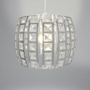 Details About Country Club Opal Light Ing Silver 24cm Modern Home Lighting Shade Decor