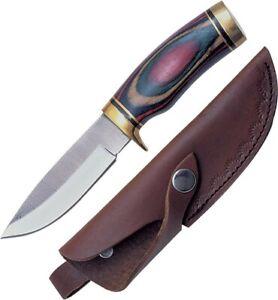 Sawmill-SM1-Wood-w-Brass-Guard-Ark-N-Saw-Fixed-Hunter-Hunting-Knife-Sheath