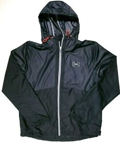 Under-Armour-Run-Vented-Mesh-Lined-Zip-Up-Windbreaker-Size-L-Large-Men-039-s