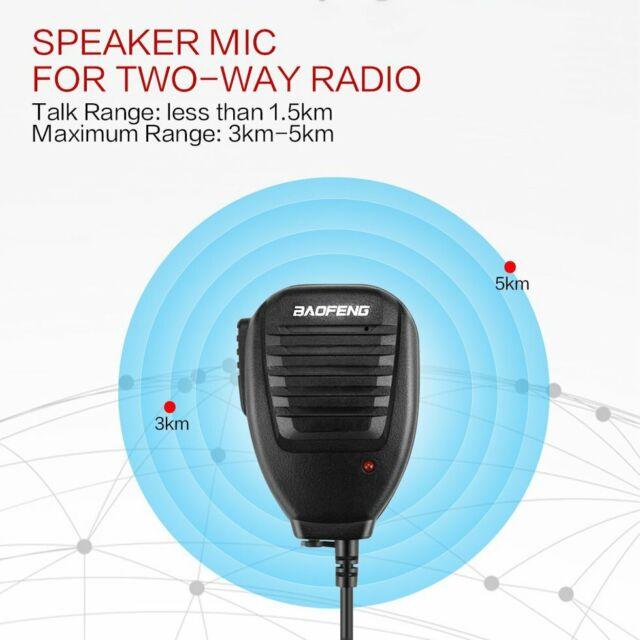 Baofeng 2-Way Radio Speaker Mic for BF-888S UV-5R UV-5RA UV-5RB UV-5RC UV-5RE KL