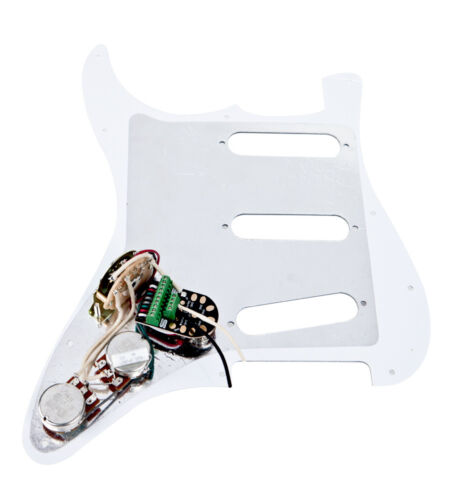 white Seymour Duncan BYOP Strat Prewired Pickguard