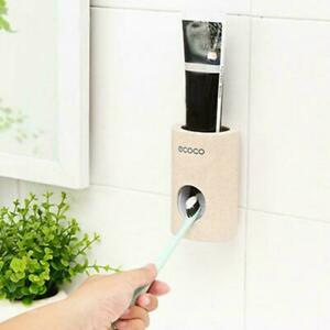 Device-Automatic-Toothpaste-Squeezer-Dispenser-Toothbrush-Holder-Extrusion-Home