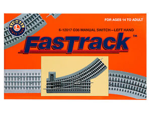 Brand-New-Lionel-O-Fastrack-Manual-O36-Switch-Left-Hand-6-12017-TOTE1