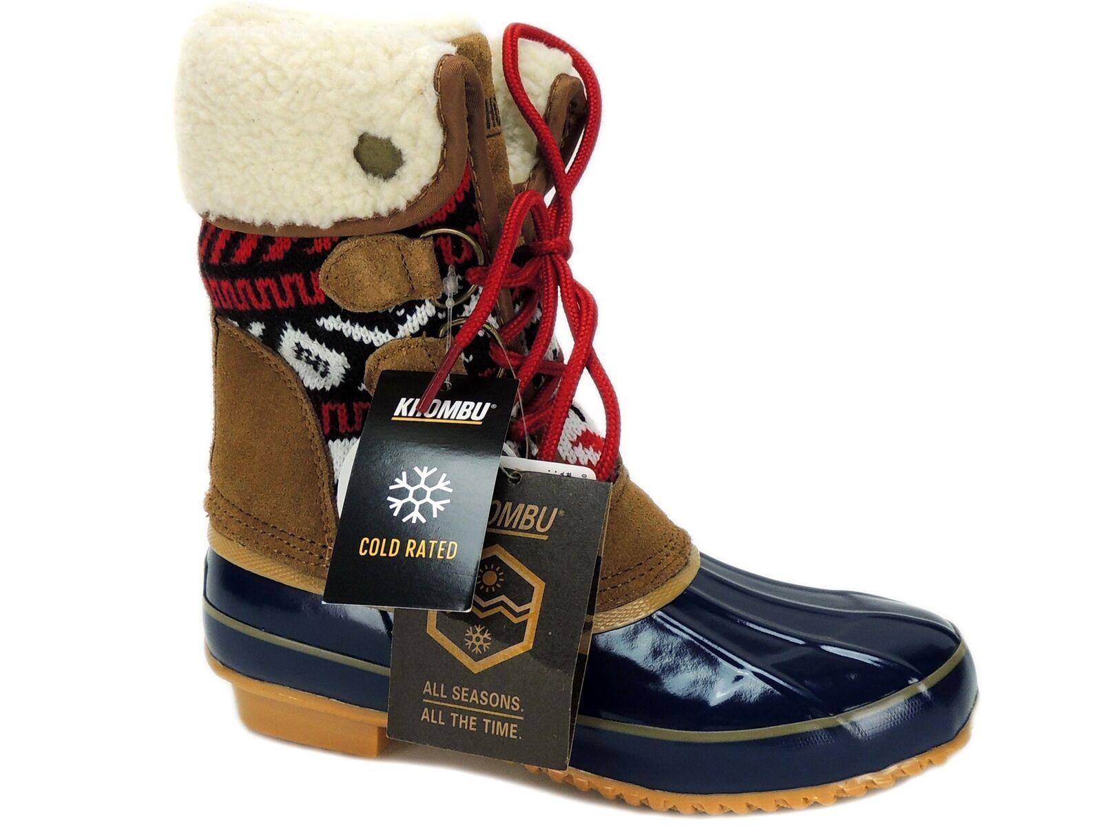 Khombu Mujeres Jenna Con Con Con Cordones botas De Clima Frío navytan tamaño 5 M 0a6f32