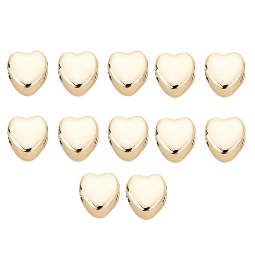 12x Plated Love Heart Shapes Jewelry Making Spacer Beads Bracelets Beads