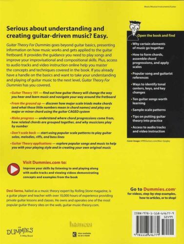 Guitar Theory for Dummies TAB Music Book with Audio//Video